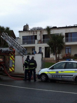 The scene of the fire in Sandycove early this morning