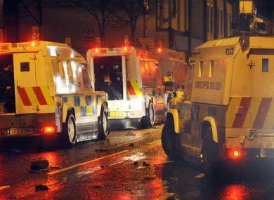Police on patrol in east Belfast yesterday