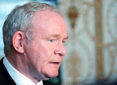 Martin McGuinness (File photo)