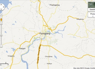 Google releases more detailed maps of North Korea ... on atlas map of korea, printable map of korea, global map of korea, satellite map of korea, satellite view of korea, latitude of korea, political map of korea,