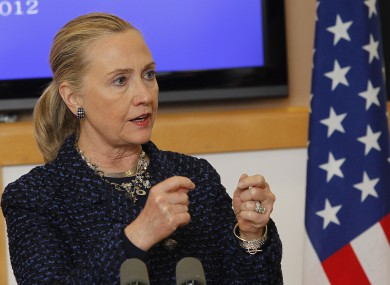 Hillary Clinton in Dublin last month before she became ill.