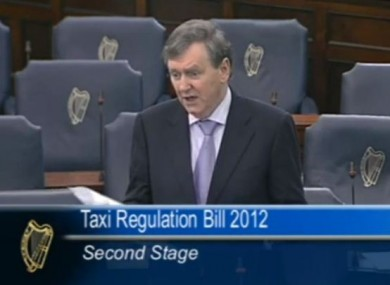 Paschal Mooney speaking in the Seanad this afternoon