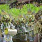 Drum queen Cris Vianna from the Imperatriz Leopoldinense samba school parade (AP Photo/Felipe Dana).