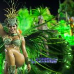 A performer from the Unidos de Vila Isabel samba school (AP Photo/Felipe Dana).