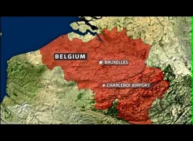 Charleroi-Bryssel lentokenttä kartta