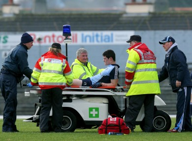 Dublin's Diarmuid Connolly is stretchered off injured during the match last Sunday.