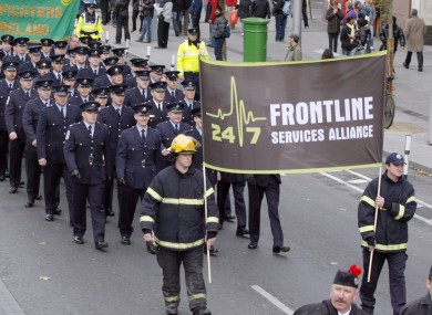 24/7 Frontline Alliance protest march in 2009.