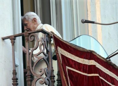 Now pope emeritus Benedict XVI leaves the balcony of his summer residence in Castel Gandolfo, after greeting wellwishers in the square below. It was his last public appearance as pontiff.