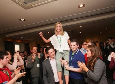 Kate Feeney, the new Ógra Fianna Fáil president