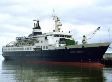An undated handout picture of the former Russian cruise ship, MV Lyubov Orlova.