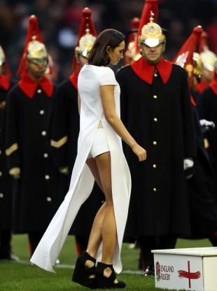 VIDEO: Swing low sweet modesty as English national anthem