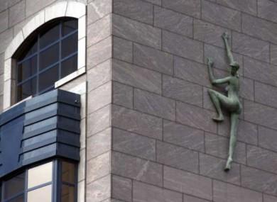 The statue on Treasury Building in Dublin.