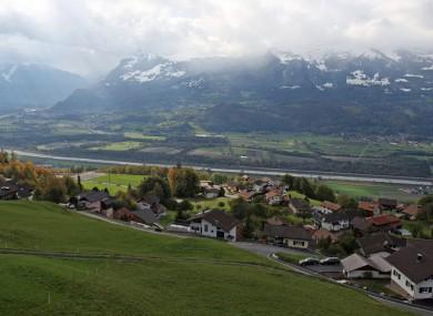 A view of Triesen in Liechtenstein.