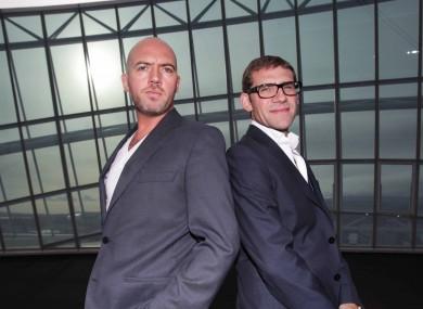Dylan McGrath (left) and fellow Masterchef judge Nick Munier (file photo)