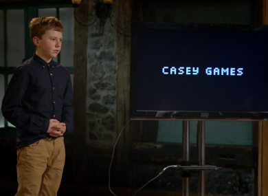 Jordan Casey in the Dragons' Den.