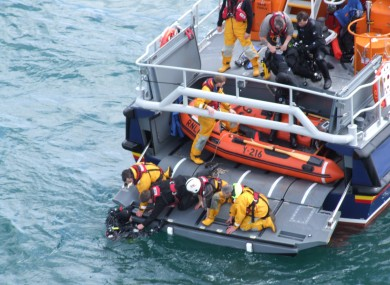 A photo taken by the Irish Coast Guard of the rescue this afternoon