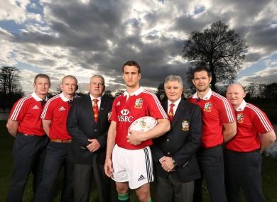Sam Warburton fronts the Lions brains trust.