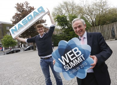 Web Summit organiser Paddy Cosgrave and Minister Richard Bruton