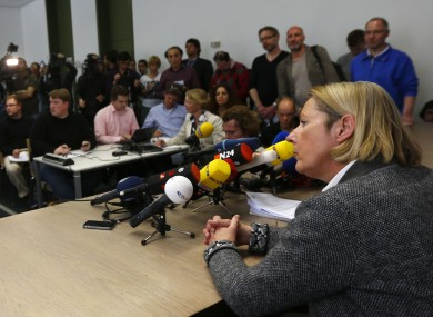 Court spokesperson Margarete Noetzel telling reporters in April that the Munich court was delaying the neo-Nazi trial until tomorrow as they needed to find more room to seat the expected number of foreign reporters at the trial.