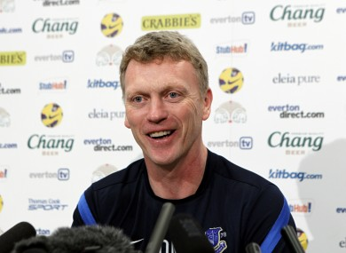 David Moyes faces the press today.