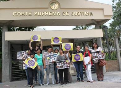 Signs read: 'Beatriz has a right to live'