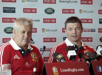 Warren Gatland and Brian O'Driscoll.
