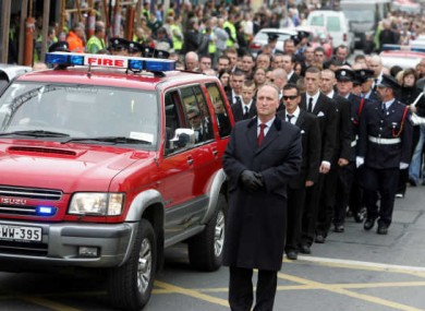 The funeral of Brian Murray in 2007