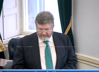 James Reilly called on Ó Lubhlaí's victims to come forward during a Seanad discussion on the allegations this evening.
