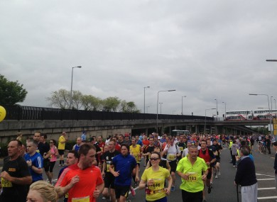 The Cork City Marathon earlier this morning