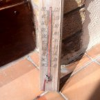This thermometer left on a balcony in Sutton, Co Dublin shoots through 50 degrees. We think it might be time you get a new thermometer, but still it makes for a great picture.