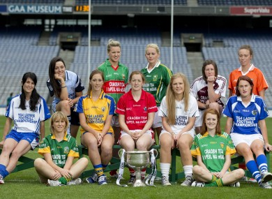 Senior Ladies footballers at the Championship launch in Croke Park earlier this month.