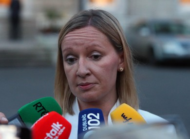 Lucinda Creighton after voting against her party on Thursday night