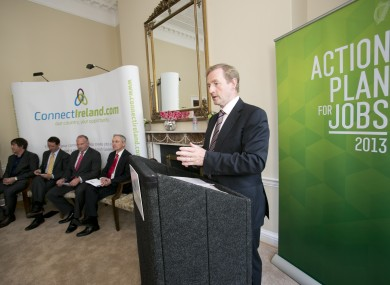 Enda Kenny at the launch of the sixth Action Plan for Jobs launch today.