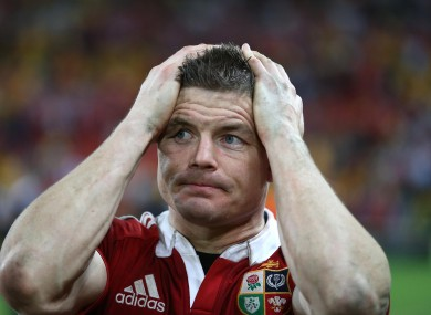 Brian O'Driscoll will play no part in Saturday's Third Test.