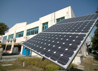 File photo: solar panel in Wuxi, China.