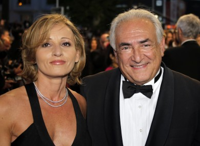 Dominique Strauss Kahn with guest Myriam L'Aouffir at the Cannes Film Festival in May