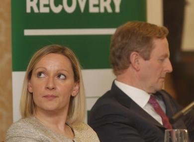 Lucinda Creighton with Taoiseach Enda Kenny last year