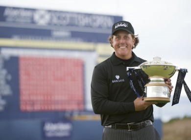 Phil Mickelson won for the first time in Europe since 1993.