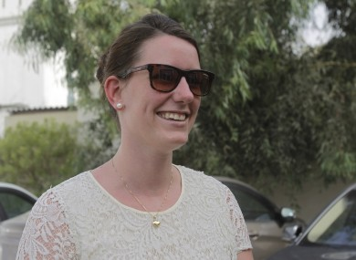 Norwegian Marte-Deborah Dalelv after hearing the news of her pardon today.