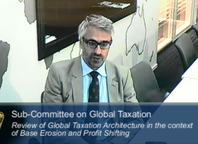 Pascal Saint Amans speaking to the Oireachtas committee today