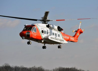 The Rescue 118 helicopter.