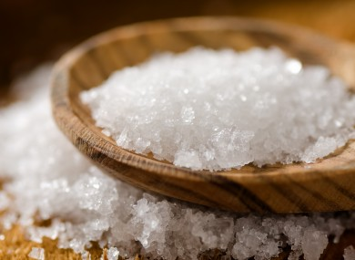 Salt in a pestle