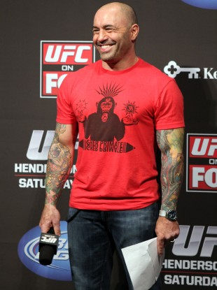UFC host Joe Rogan loses his marbles over bruising hurling footage