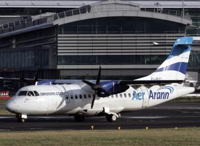 Aer Arann at Dublin Airport.