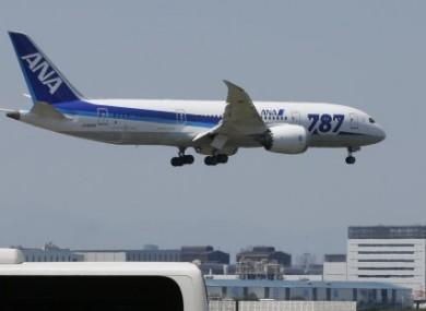 An ANA Boeing 787-8 Dreamliner