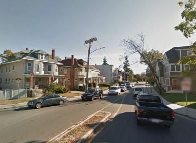 Adams Street, near where the man was found on Sunday.