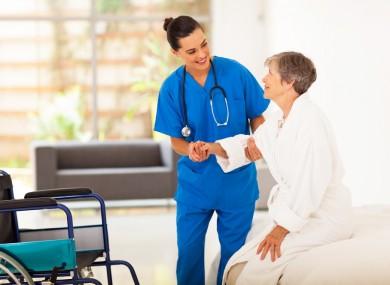 Stock image of a nursing home