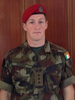 Captain James O'Hara who will head to Syria on 18 September.