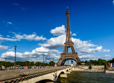 The Eiffel Tower and Seine River