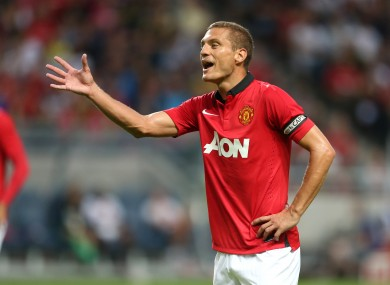 Manchester United's Nemaja Vidic.